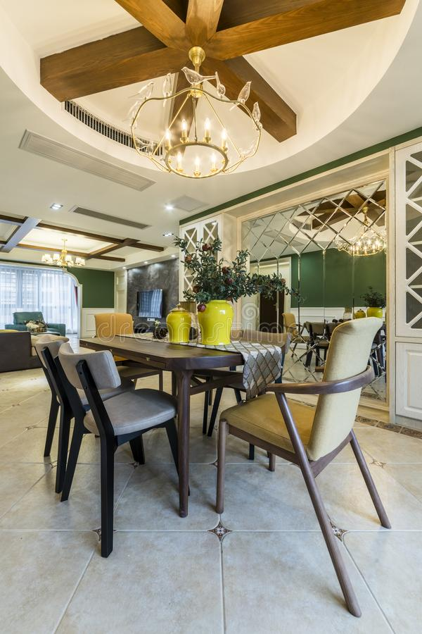 A neat Modern Home Restaurant stock photography