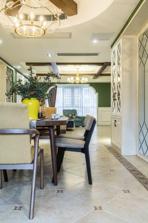 A neat Modern Home Restaurant royalty free stock photos