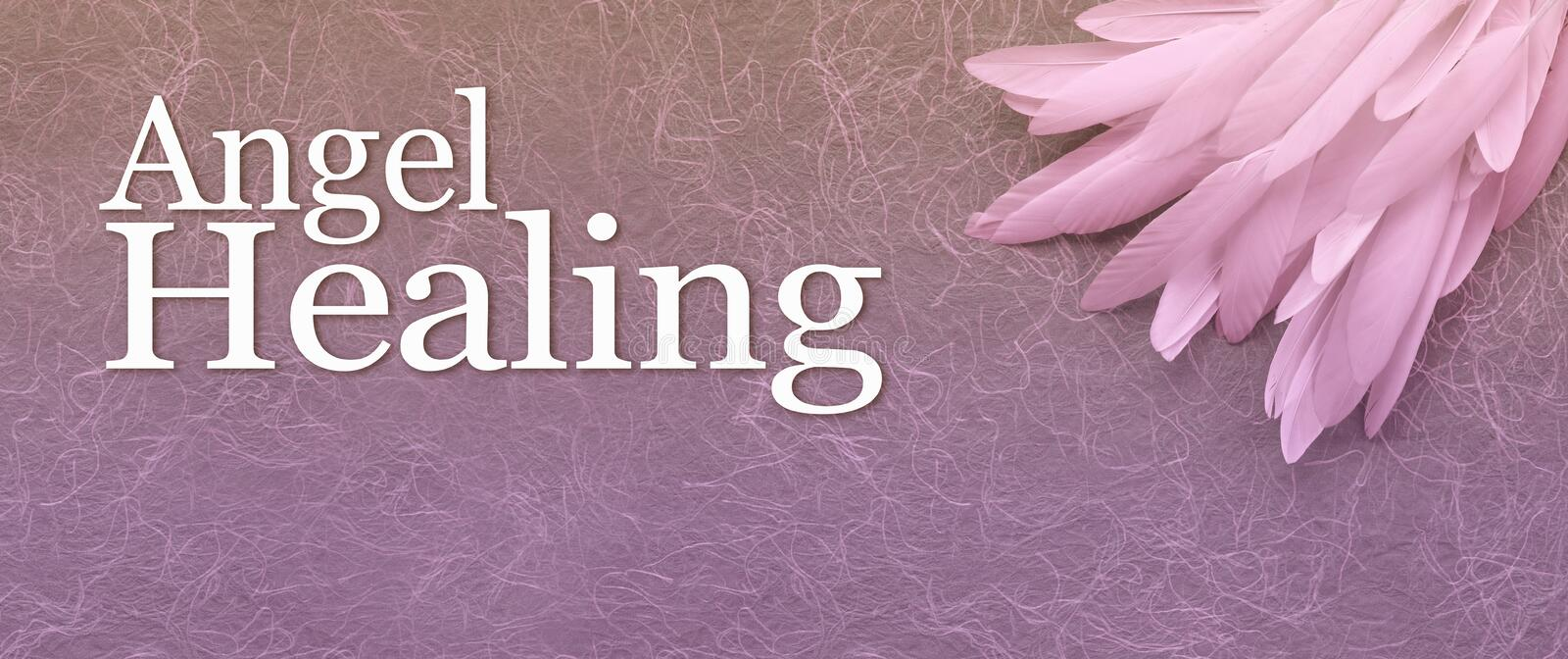 Angel Healing Website Banner Head royalty free stock photos