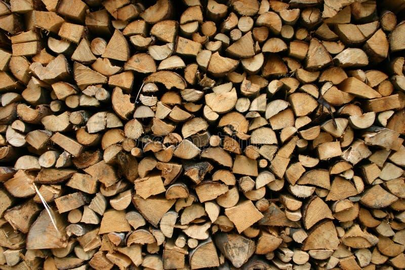 Neat woodpile stock image