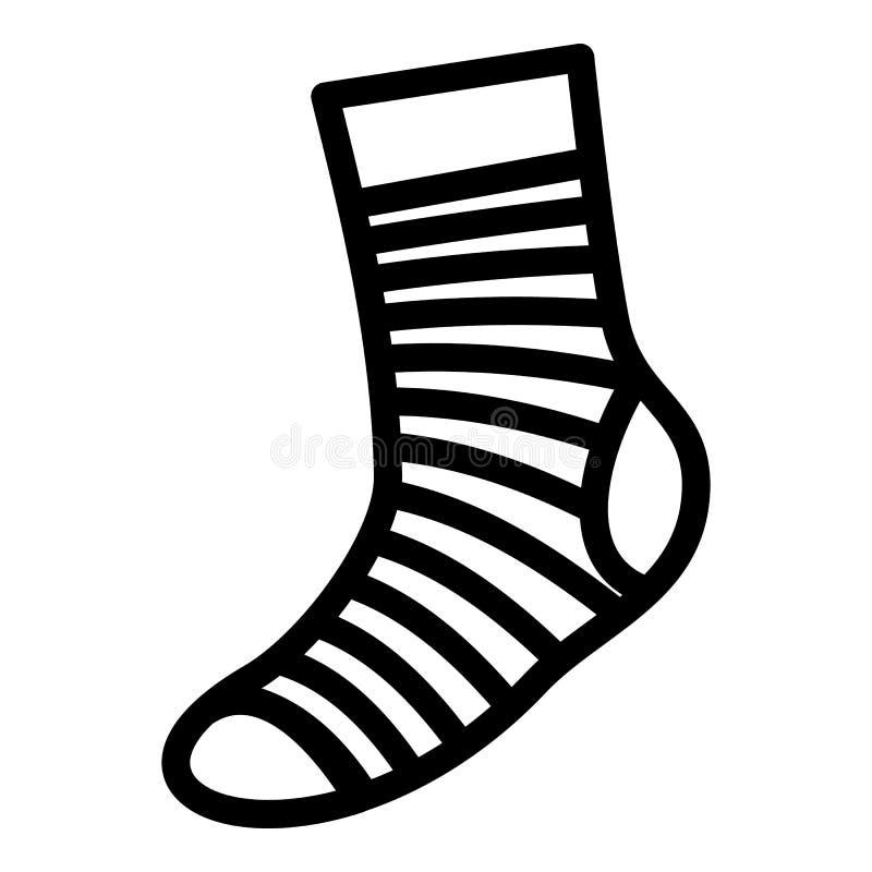Neatness sokpictogram, eenvoudige stijl stock illustratie