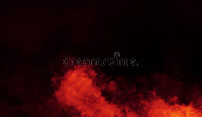 Nebbia astratta della foschia del fumo di oscurità su un fondo nero Struttura Elemento di disegno fotografia stock libera da diritti