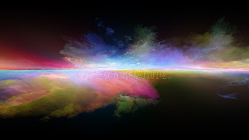 Nebbia di tramonto illustrazione vettoriale