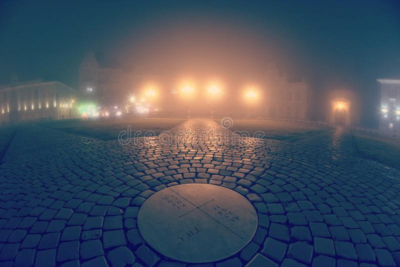 Nebbia e notte fotografia stock libera da diritti