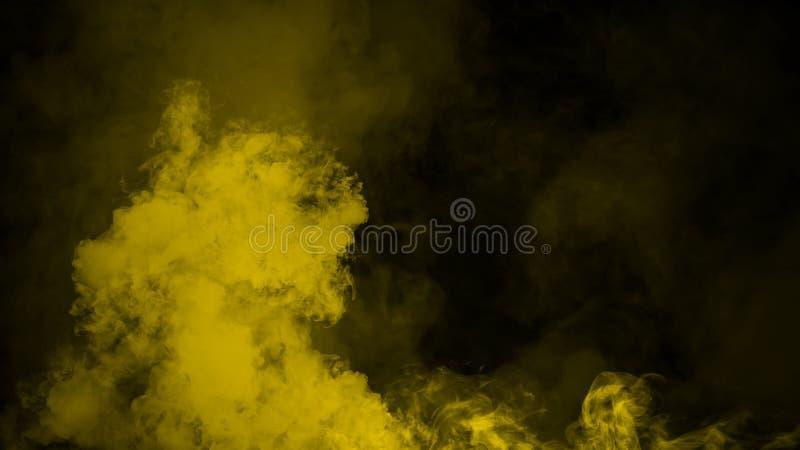Nebbia gialla ed effetto nebbioso su fondo Sovrapposizioni del fumo royalty illustrazione gratis