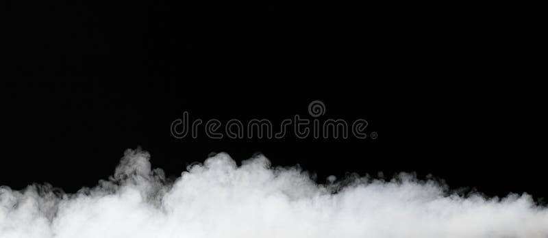 Nebbia isolata sul nero immagine stock libera da diritti