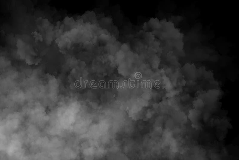 Nebbia o fumo su fondo nero immagini stock