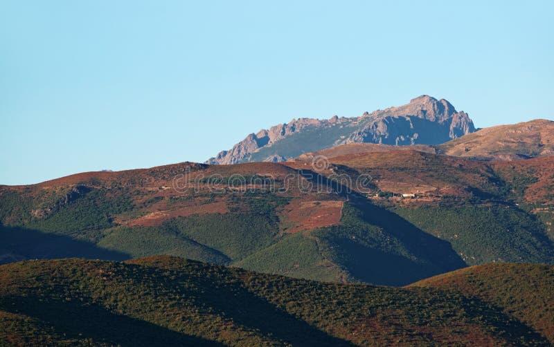 Nebbio-Berg in Korsika-Insel stockbild