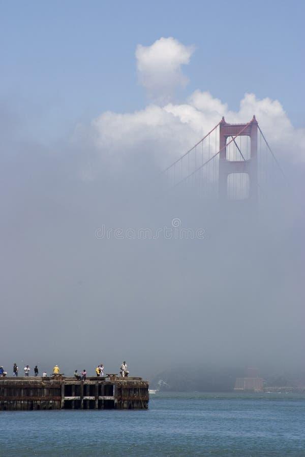 Nebel, der 2 fischt lizenzfreies stockfoto