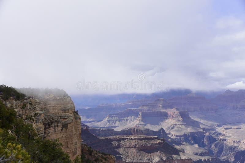 Nebel Grand Canyon s stockbild