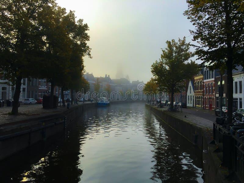 Nebel in Groningen stockfotos