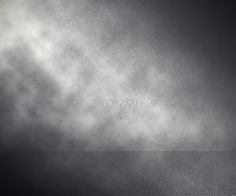 Nebel im grauen Raum stockfotografie