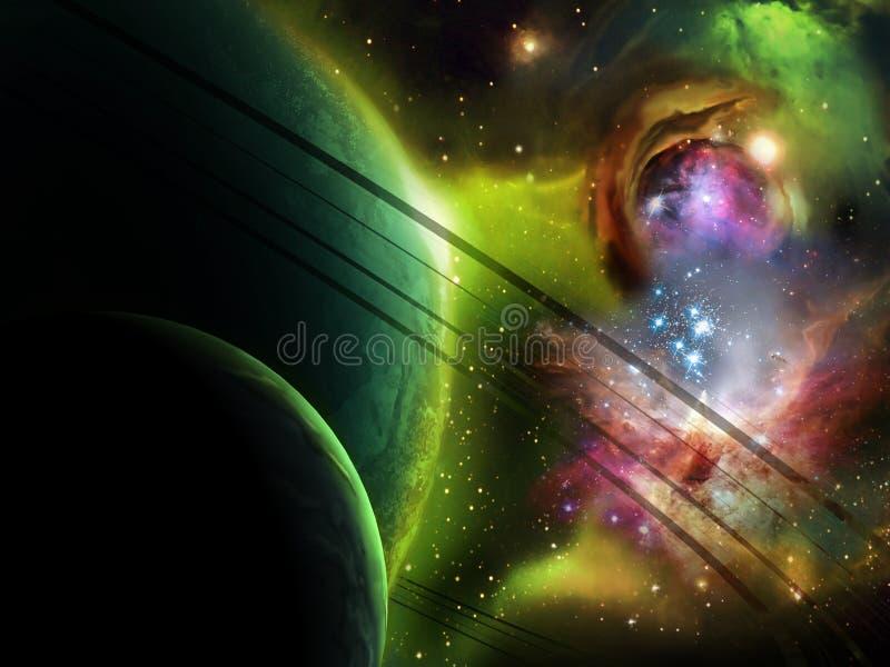 Nebelfleck der aufsteigenden Sterne lizenzfreie abbildung