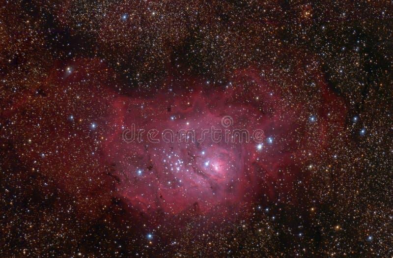Nebelfleck der Lagune (M8) in der Schützekonstellation. lizenzfreie stockbilder