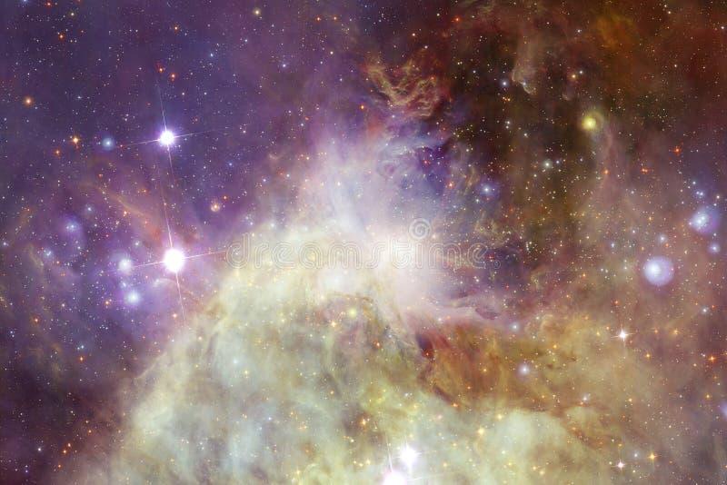 Nebelfleck und Galaxien im Raum Elemente dieses Bildes geliefert von der NASA stockfotos