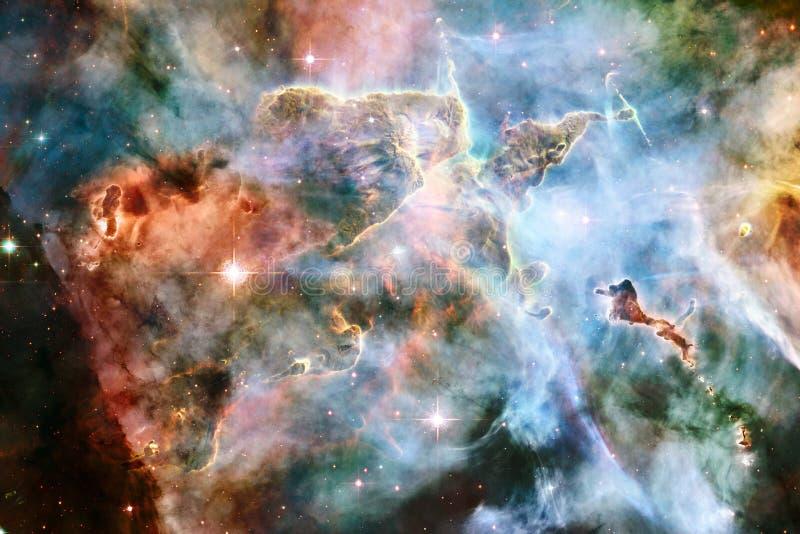 Nebelflecke und viele Sterne im Weltraum Elemente dieses Bildes geliefert von der NASA vektor abbildung