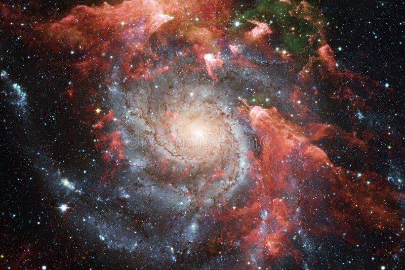 Nebelflecke und viele Sterne im Weltraum Elemente dieses Bildes geliefert von der NASA lizenzfreie abbildung