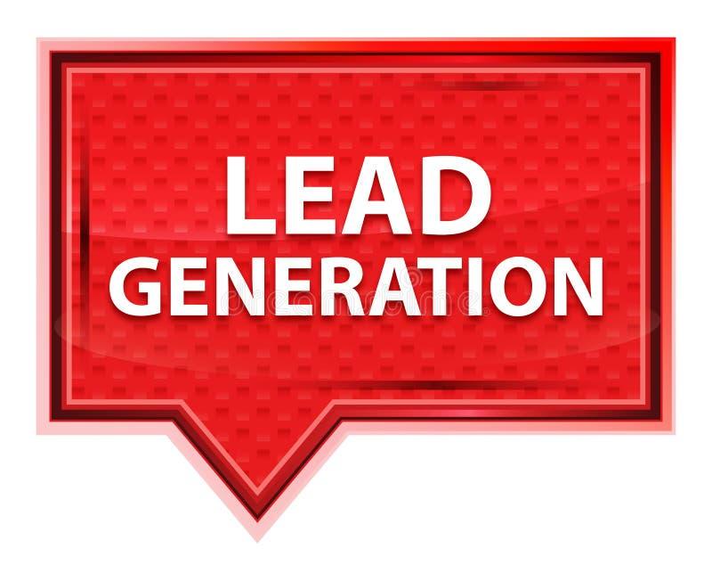 Nebelhafter rosafarbener rosa Fahnenknopf der Führungs-Generation lizenzfreie abbildung