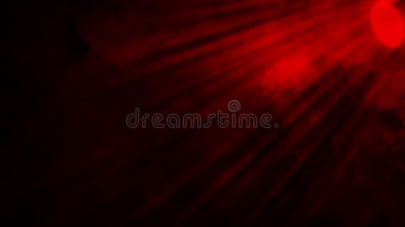 Nebeln rote Rauchwolken des Trockeneises Bodenbeschaffenheit ein Perfekter Scheinwerfernebeleffekt auf lokalisierten schwarzen Hi lizenzfreie stockfotos