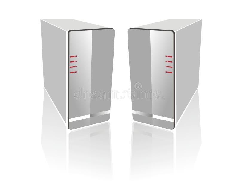 Nebeneinander weißer Server zwei stock abbildung
