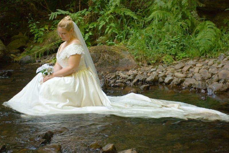 Nebenfluss-Braut stockbild