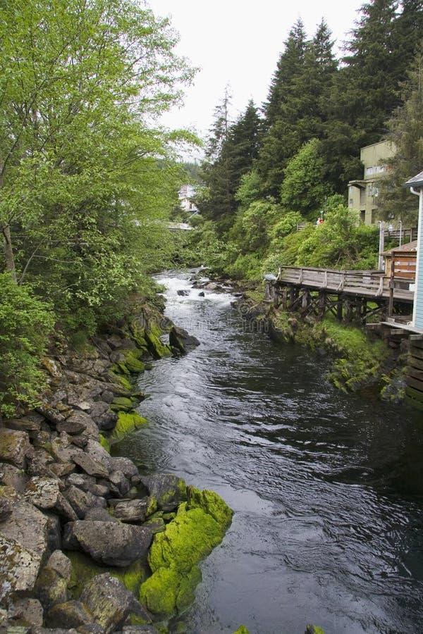 Nebenfluss-Straße von Ketchikan leider lizenzfreies stockfoto