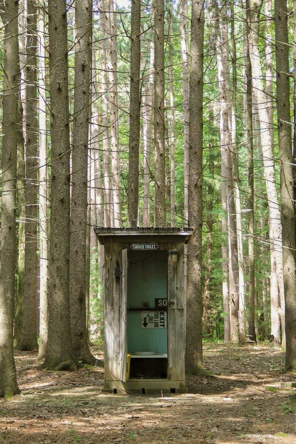 Nebengebäude im Wald lizenzfreie stockfotos