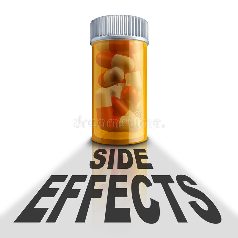 Nebenwirkungen des rezeptpflichtigen Medikaments lizenzfreie abbildung