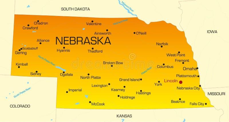 Nebraska ilustração stock