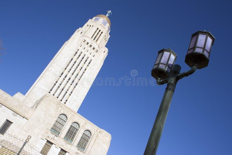 Nebraska - het Capitool van de Staat royalty-vrije stock foto's