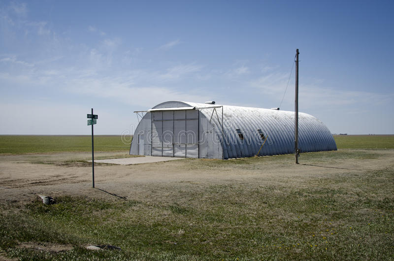 Nebraska Quonset buda fotografia stock