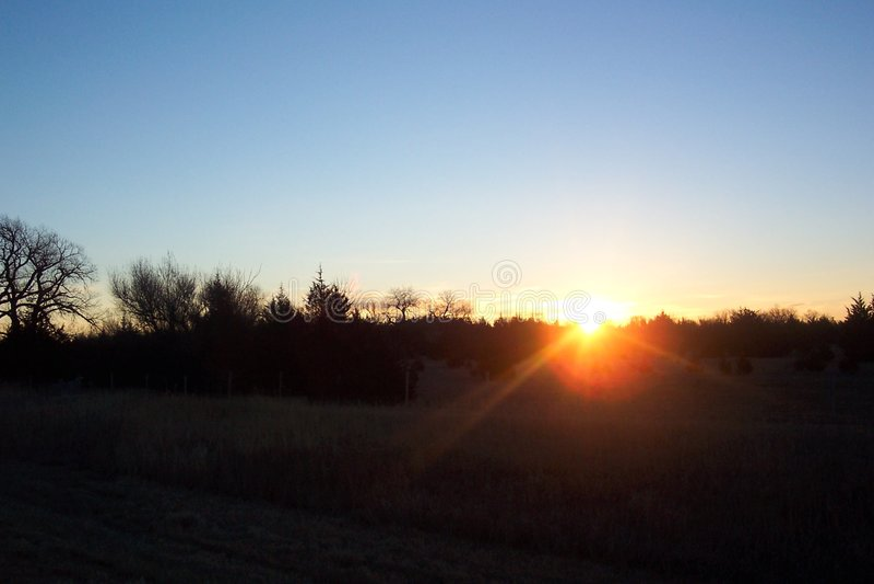 Nebraska-Sonnenaufgang stockfotos