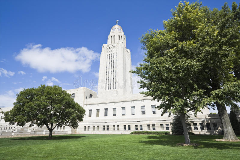 Nebraska - Zustand-Kapitol lizenzfreie stockfotos
