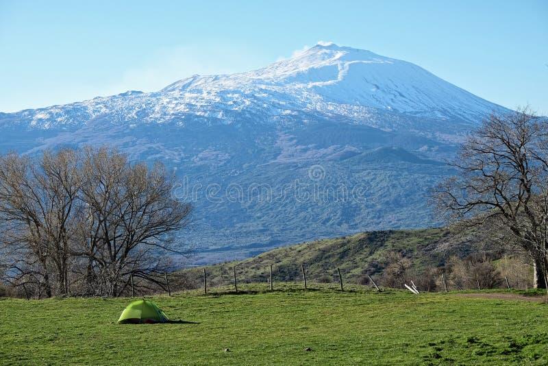 In Nebrodi-Park kampieren, Sizilien lizenzfreie stockfotos