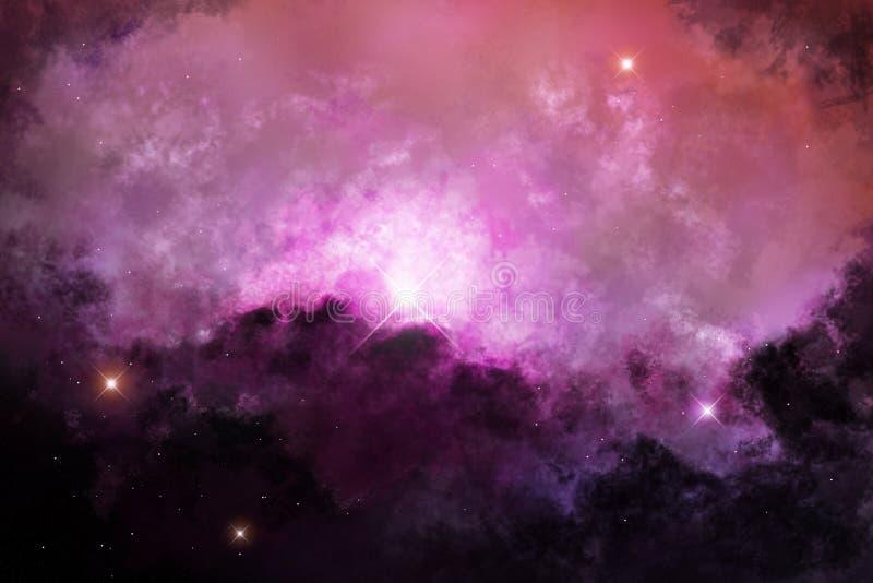Nebula глубокия космоса иллюстрация вектора