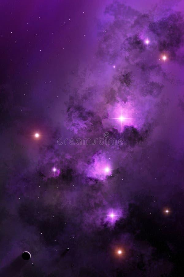 Nebula космоса иллюстрация вектора