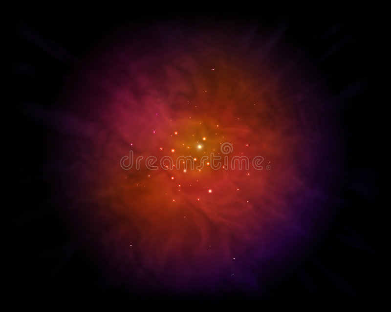 Nebula vektor illustrationer