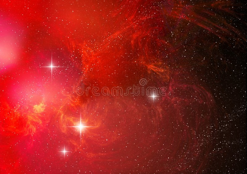 Nebula (abstract background) royalty free illustration