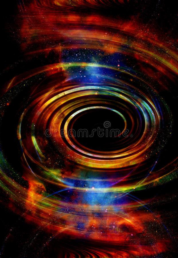 Nebula, Cosmic space and stars, blue cosmic abstract background. Elements of this image furnished by NASA. Nebula, Cosmic space and stars, blue cosmic abstract royalty free illustration