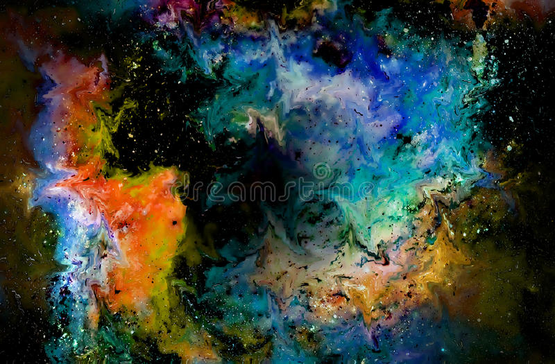 Nebula, Cosmic space and stars, cosmic abstract background and glass effect. Elements of this image furnished by NASA. Nebula, Cosmic space and stars, cosmic royalty free illustration