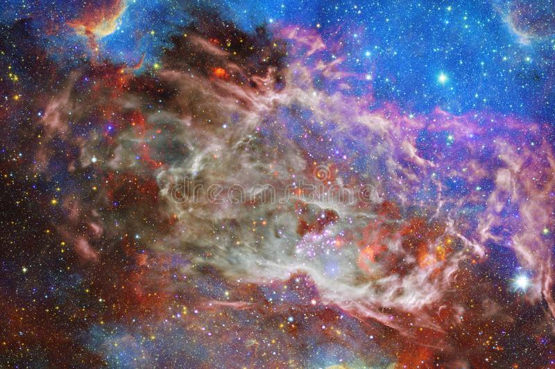 Nebula and galaxies in space. Elements of this image furnished by NASA.  vector illustration