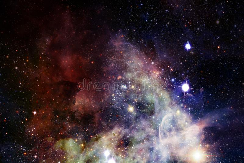 Nebula and galaxies in space. Elements of this image furnished by NASA vector illustration