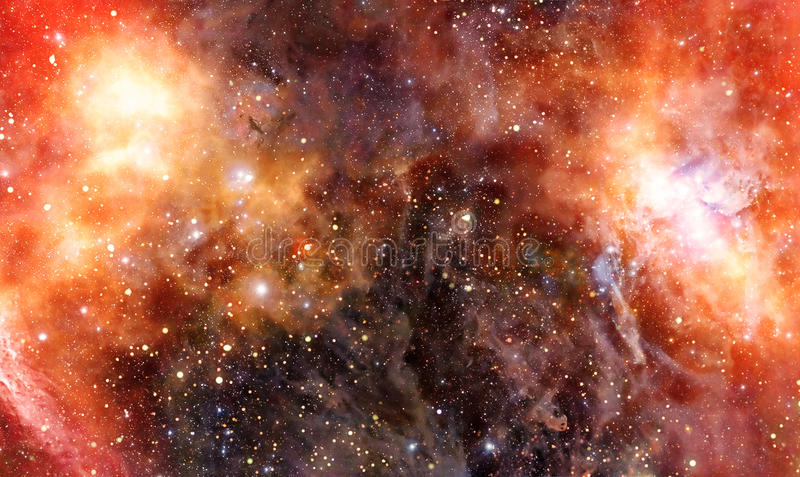 Nebula gas cloud in deep outer space stock illustration