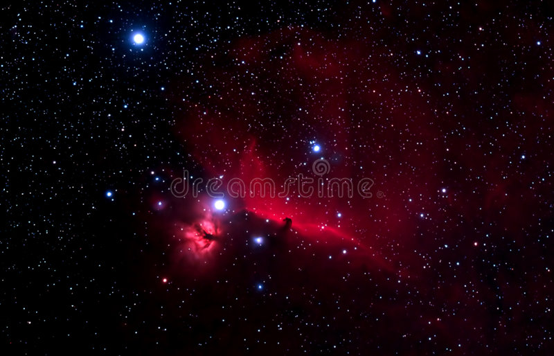 nebula horshead стоковые изображения rf