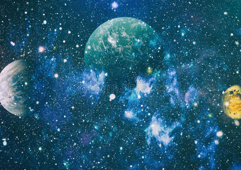 Nebula Night Starry Sky In Rainbow Colors Multicolor Outer Space