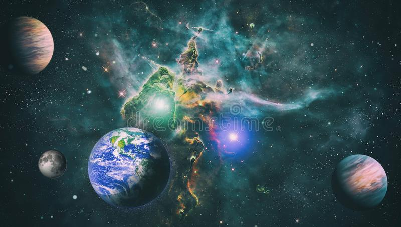 The Earth From Space This Image Elements Furnished By Nasa Stock