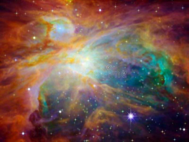 nebula orion royaltyfri illustrationer