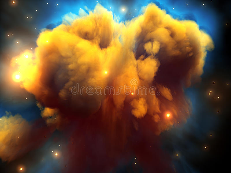 nebulaavstånd vektor illustrationer