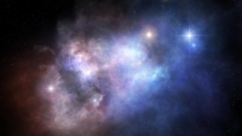 Nebulae in outer space royalty free stock images