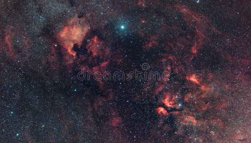 nebularity s αστερισμού του Κύκνο&up στοκ εικόνα με δικαίωμα ελεύθερης χρήσης